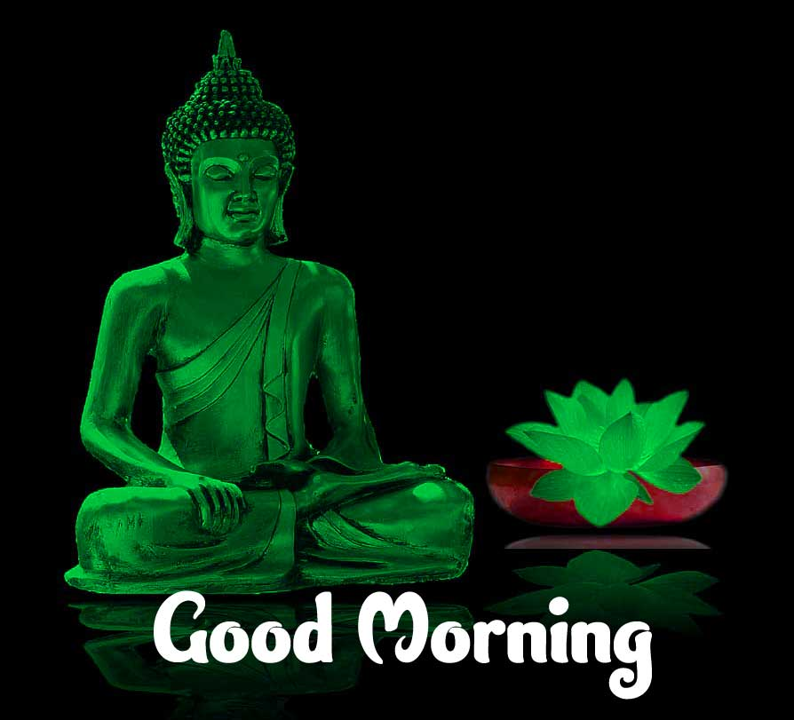 Good Morning Wishing on Buddha Pic HD