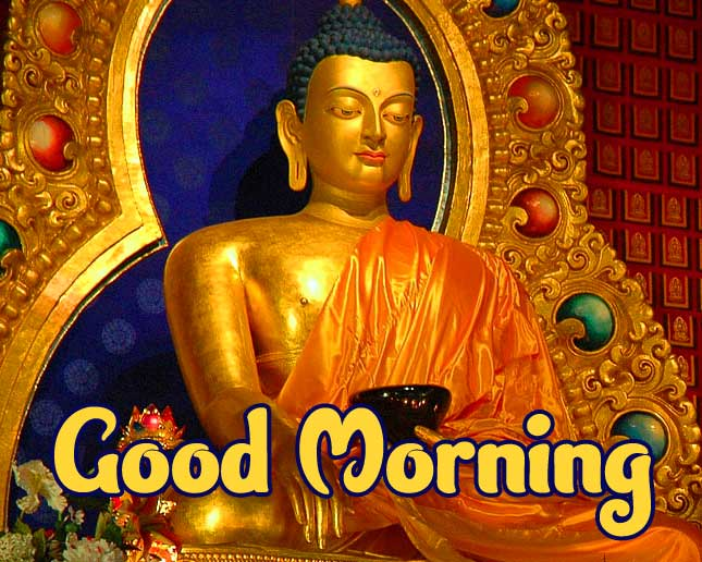 Good Morning Wishing on Buddha Picture HD