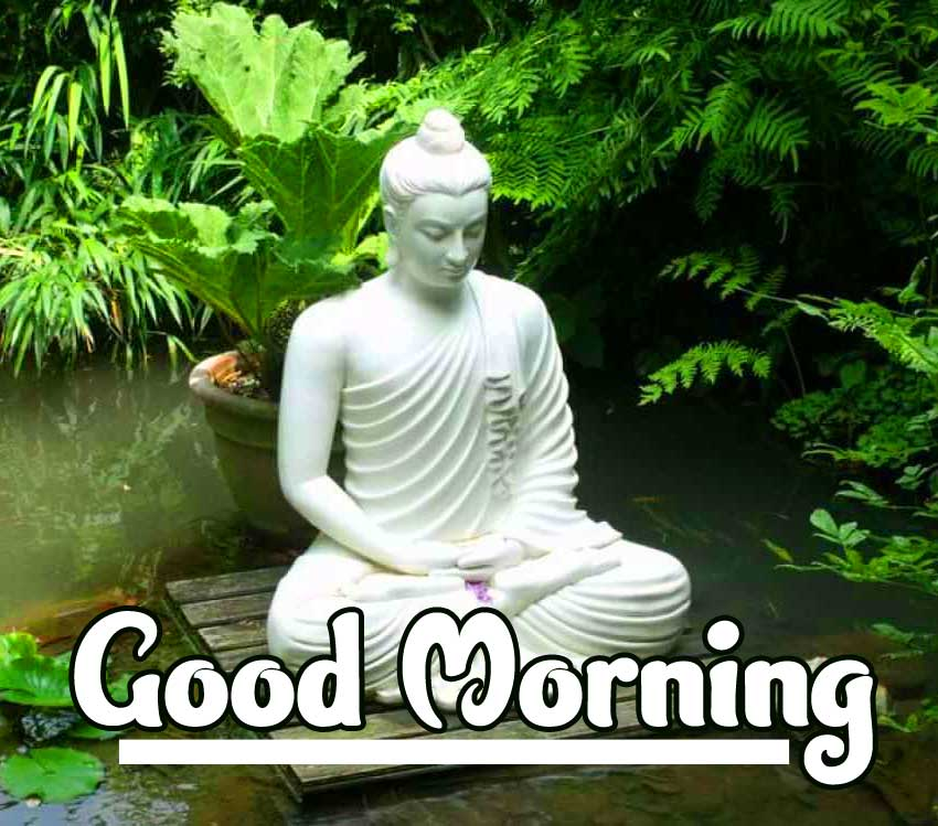 Good Morning Wishing on Buddha Picture