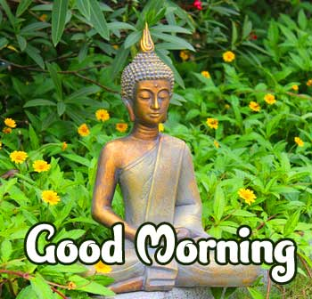 Good Morning Wishing on Buddha Wallpaper HD