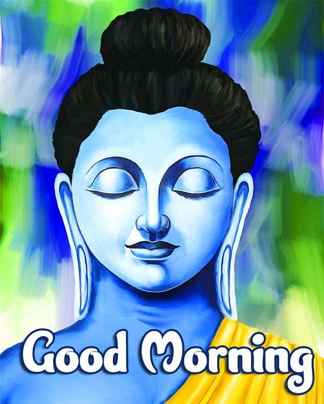 Good Morning Wishing on Buddha Wallpaper