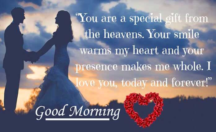 Good Morning Wishing with Romantic Quote Copy Copy