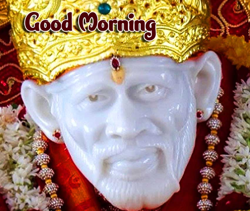 Good Morning Wishing with Sai Baba Picture