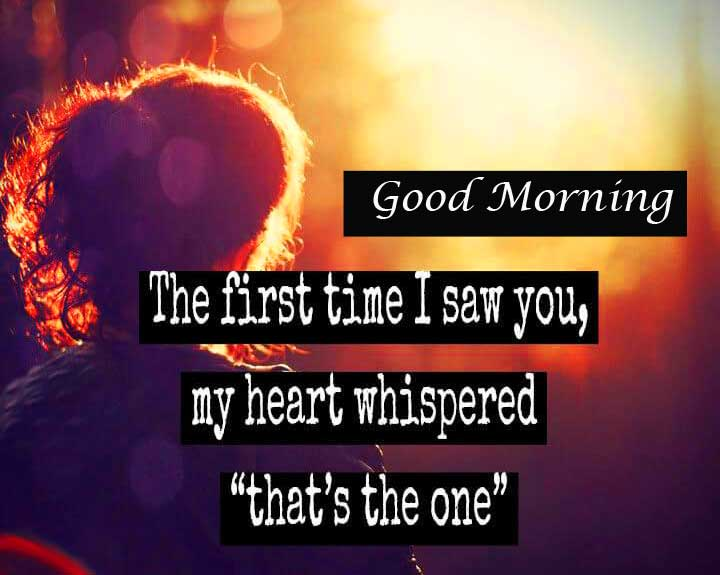 Good Morning with Romantic Quote Image