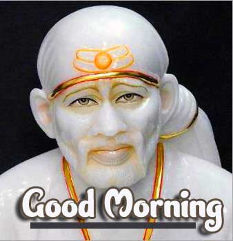 Good Morning with Sai Baba Statue
