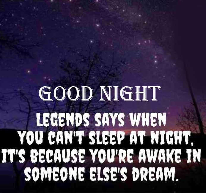 Good Night HD Image with Quote