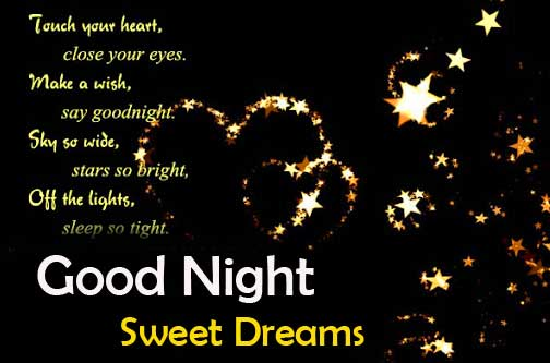Good Night Sweet Dreams Message with Quote