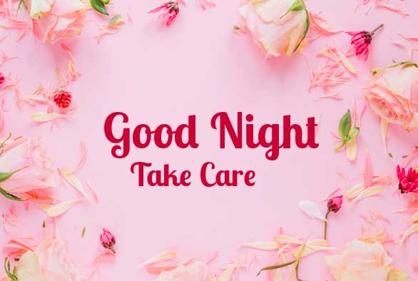 Good Night Wishing with Floral Background