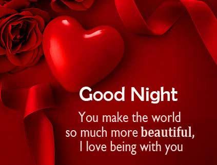 Good Night with Beautiful and Romantic Quote