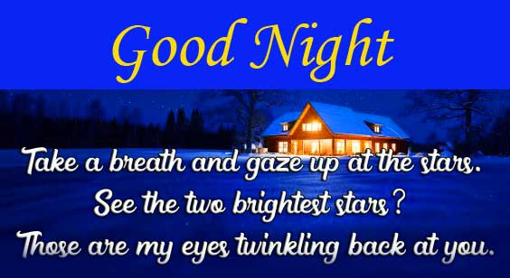 Good Night with Quote Image HD