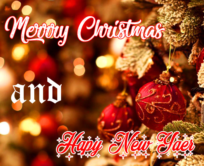 HD Merry Christmas and Happy New Year Wallpaper