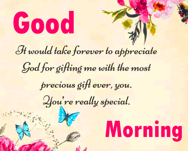 HD Pink and Lovely Quoted Image with Good Morning Wishing