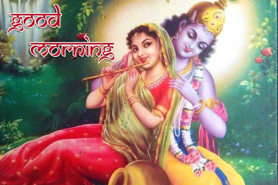 HD Radha Krishna Good Morning Image