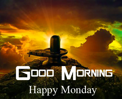 HD Shivling Good Morning Happy Monday Wallpaper