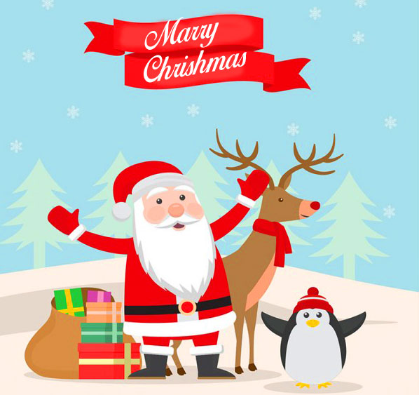 Happy Christmas Greeting Wallpaper