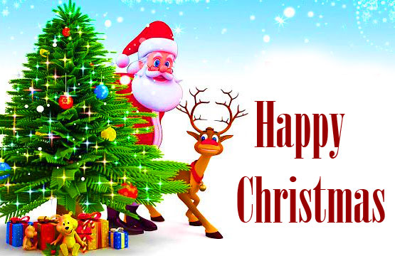 Happy Christmas Message Wallpaper