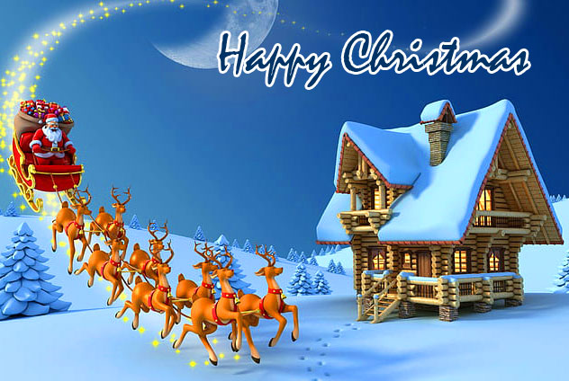 Happy Christmas Santa Claus Wallpaper HD