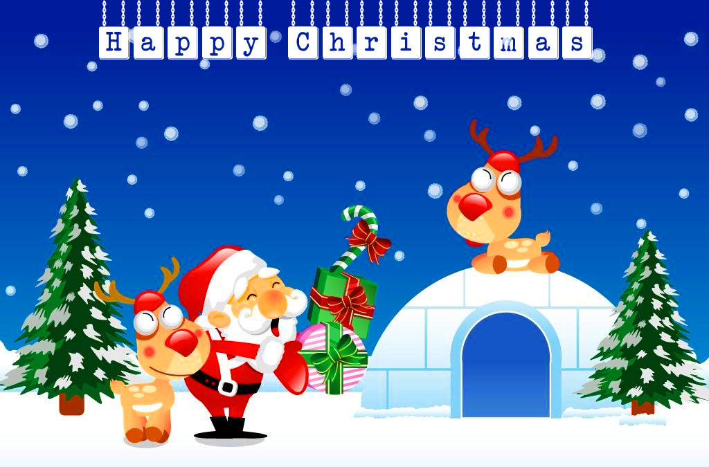Happy Christmas Snow Image HD