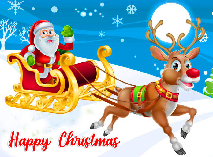 Happy Christmas with Cute Santa Image