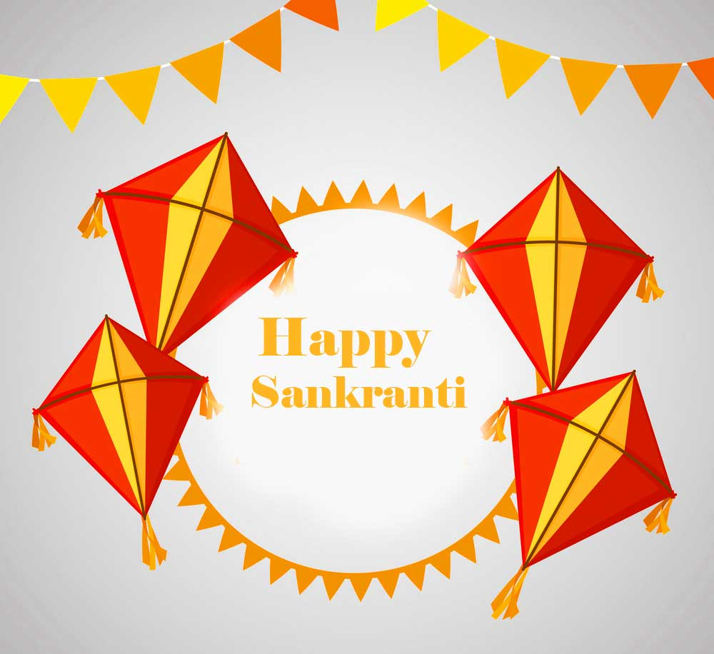 Happy Sankranti Greeting Wallpaper