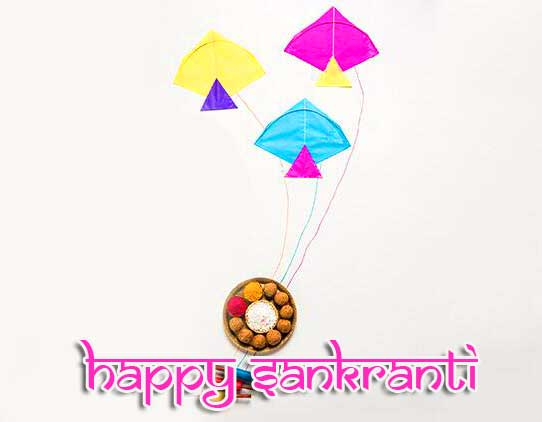 Happy Sankranti Wish with Kites Image