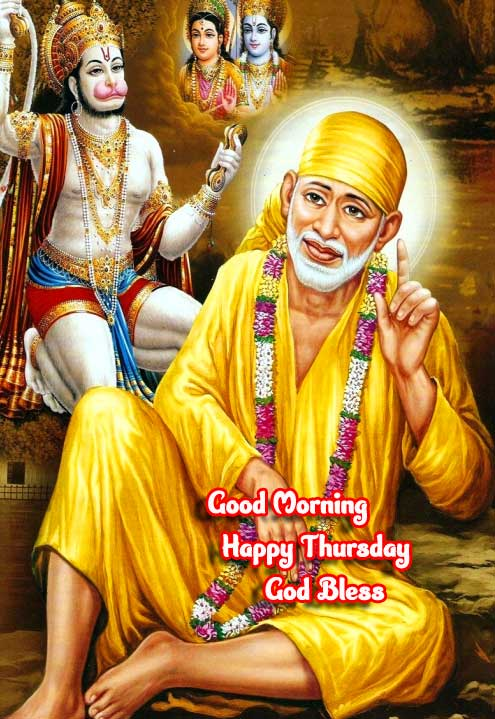 Happy Thursday wishing on Sai Baba Picture Hd