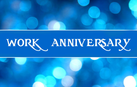 Happy Work Anniversary with Sparkling Wallpaper