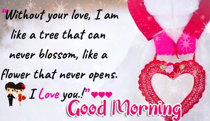 Heart Pendant with Good Morning Message