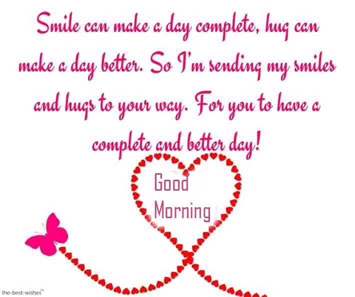 Heart Quote with Good Morning Wishing Copy