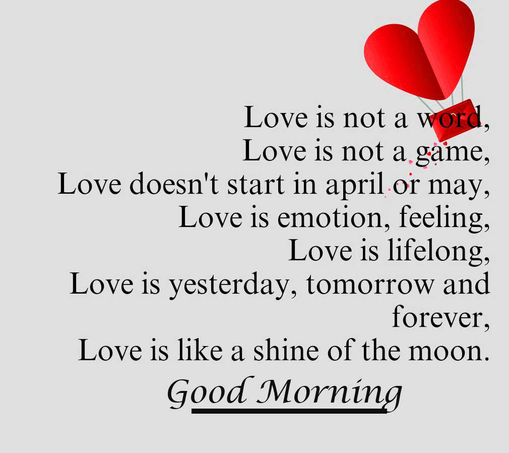 Heart Quote with Good Morning Wishing HD