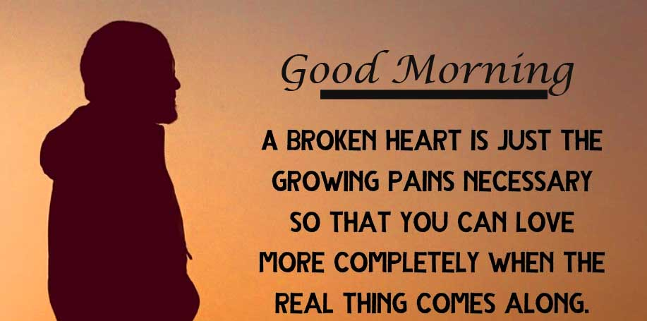 Heart Quote with Good Morning Wishing