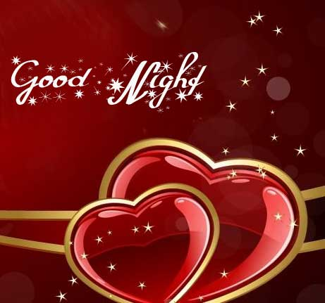 Heart with Good Night Message