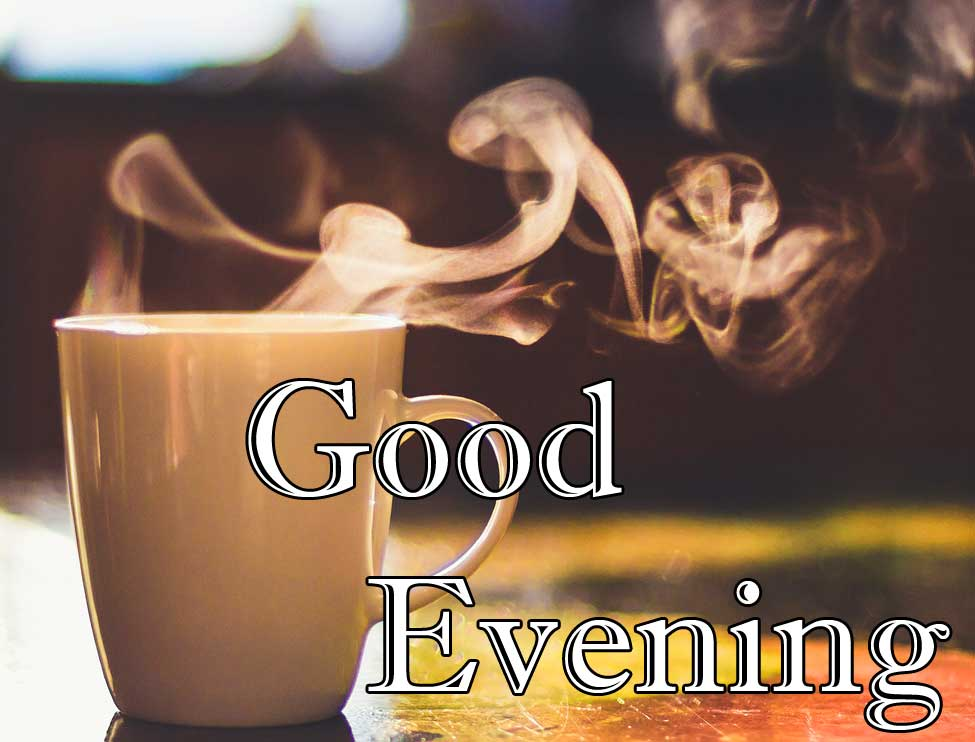 Hot Coffee with Good Evening Image