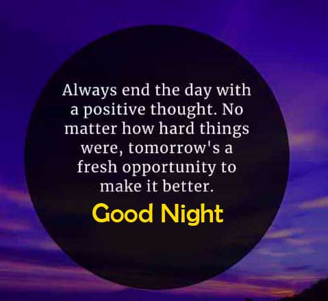 Inspiring Quote with Good Night Message