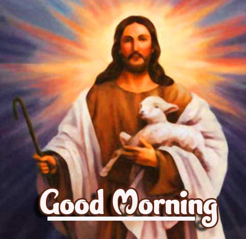 Kind Jesus with Good Morning Image