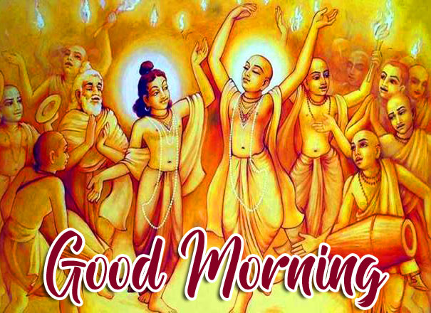 Krishna and Friends with Good Morning Wish