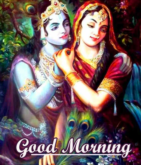 Lord Radha and Krishna Good Morning Wish