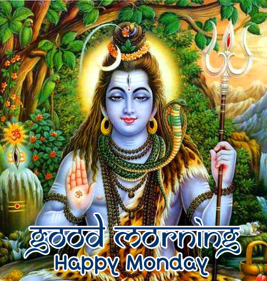 Lord Shiva Good Morning Happy Monday Image HD
