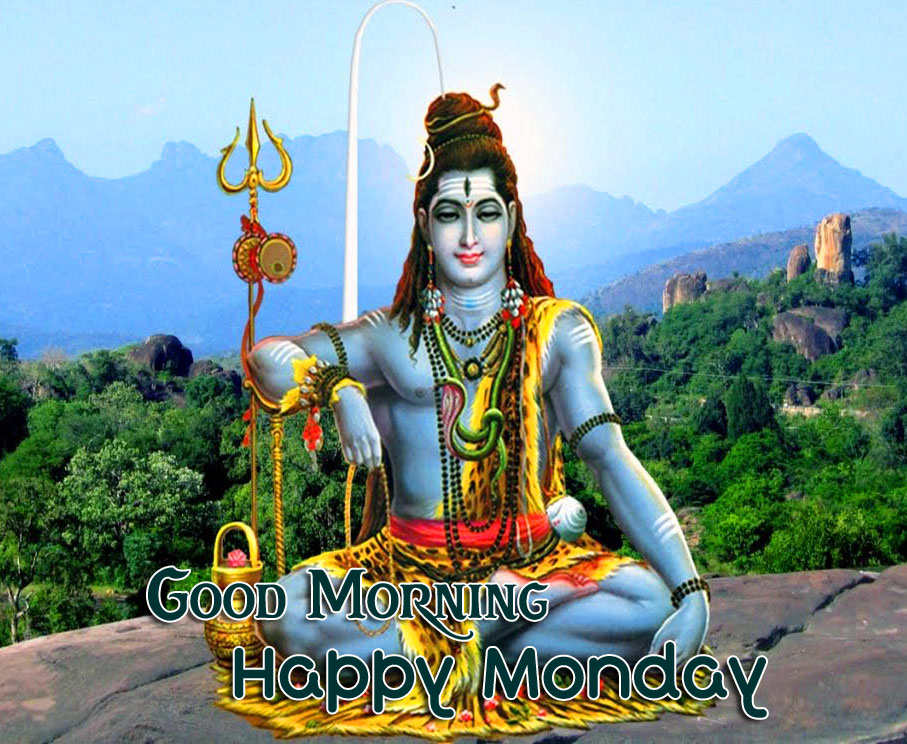 Lord Shiva Good Morning Happy Monday Wishing Pic