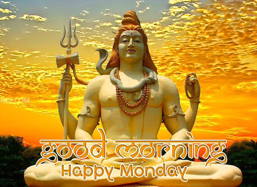 Lord Shiva Good Morning Happy Monday Wishing Wallpaper