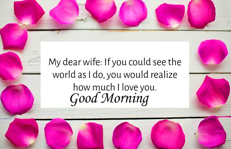 Lovable Qote for Wife with Good Morning Wishing Copy