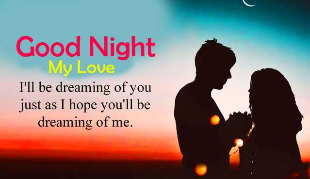 Love Couple Quote with Good Night Wish