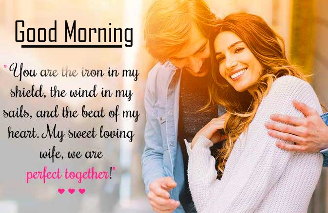 Love Couple with Good Morning Wishing Copy