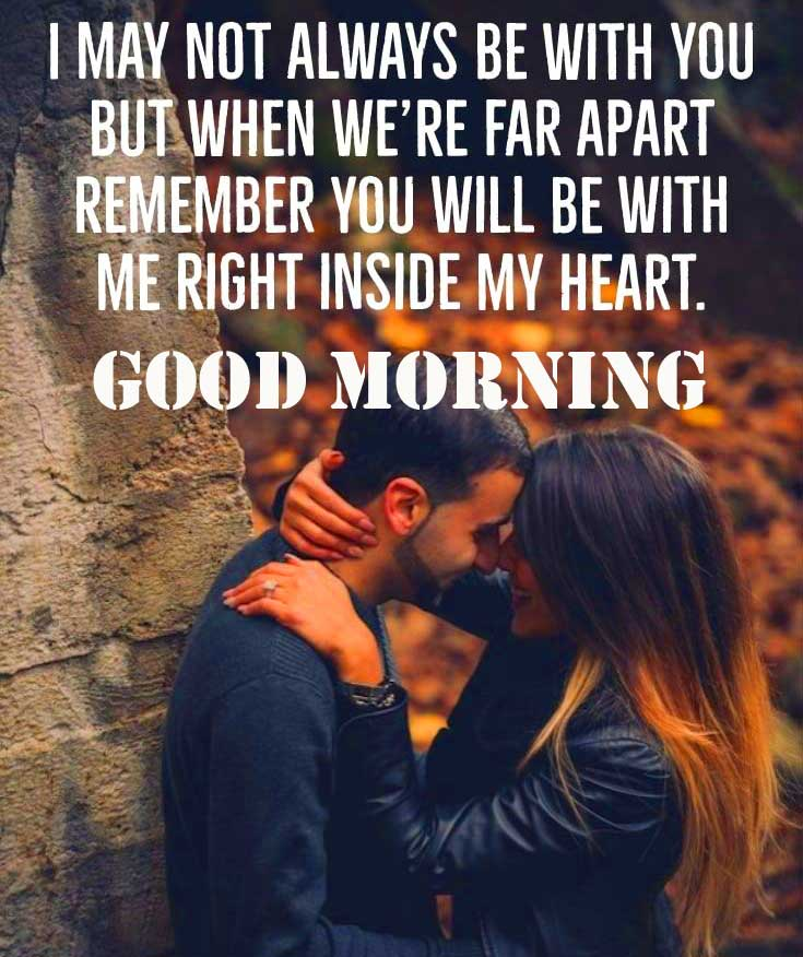 Love Couple with Good Morning Wishing