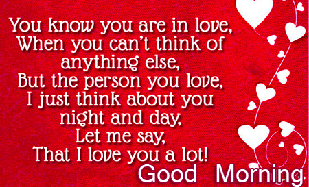 Love Good Morning Image for him