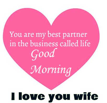 Love Message for Wife with Good Morning Wishing Copy
