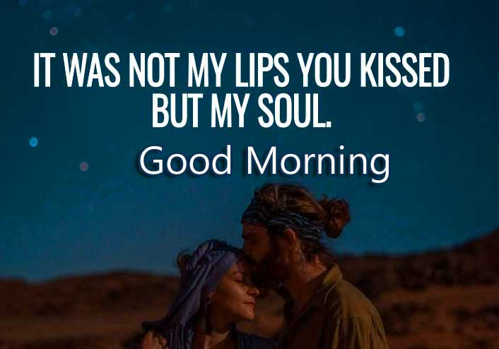 Love Quote Good Morning Image for Him