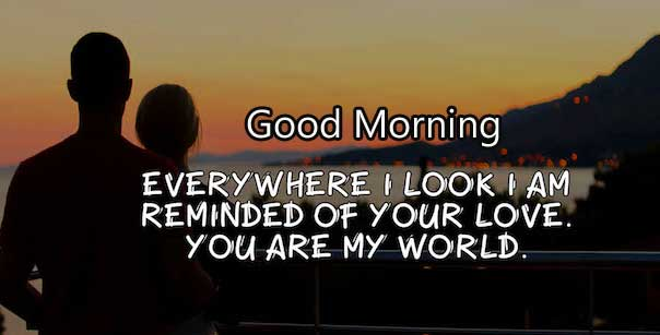 Love Quote Good Morning Wishing for Your Lover