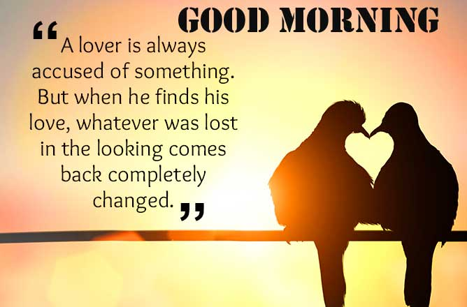 Love Quote with Good Morning Wish