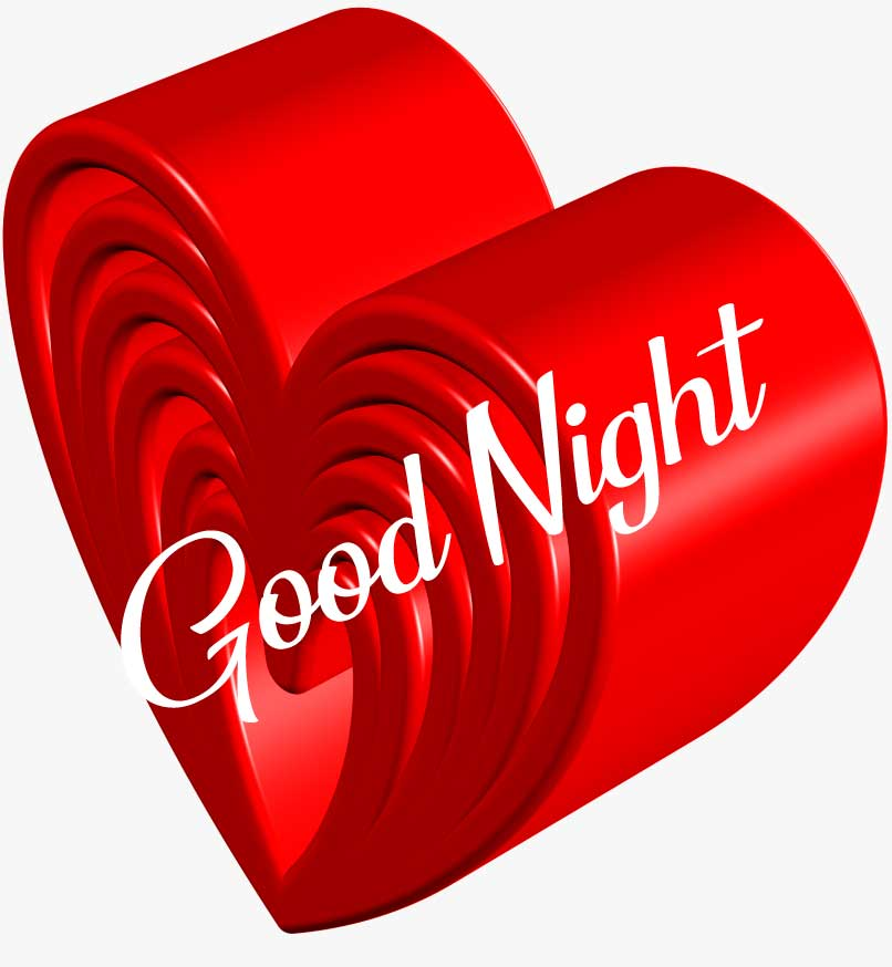 Lovely d Heart with Good Night Wishing